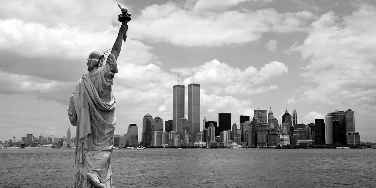 Statue of Liberty - World Trade Center